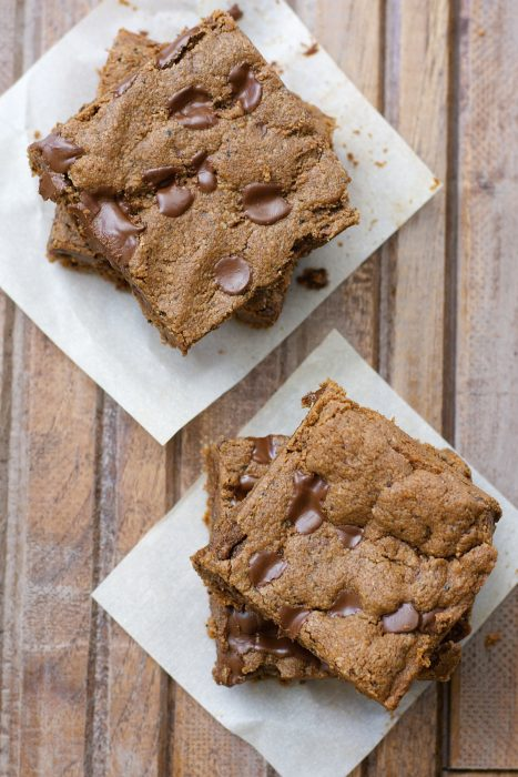 These Almond Butter Espresso Bars are packed with chocolate and coffee flavor! They are gluten free, keto-friendly and ready in just 20 minutes!