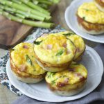 Ham and Asparagus Quiche Cups