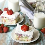 Funfetti Strawberry Poke Cake