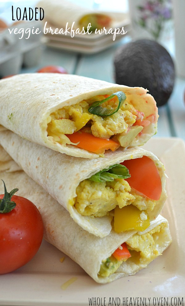 Loaded Veggie Breakfast Wraps