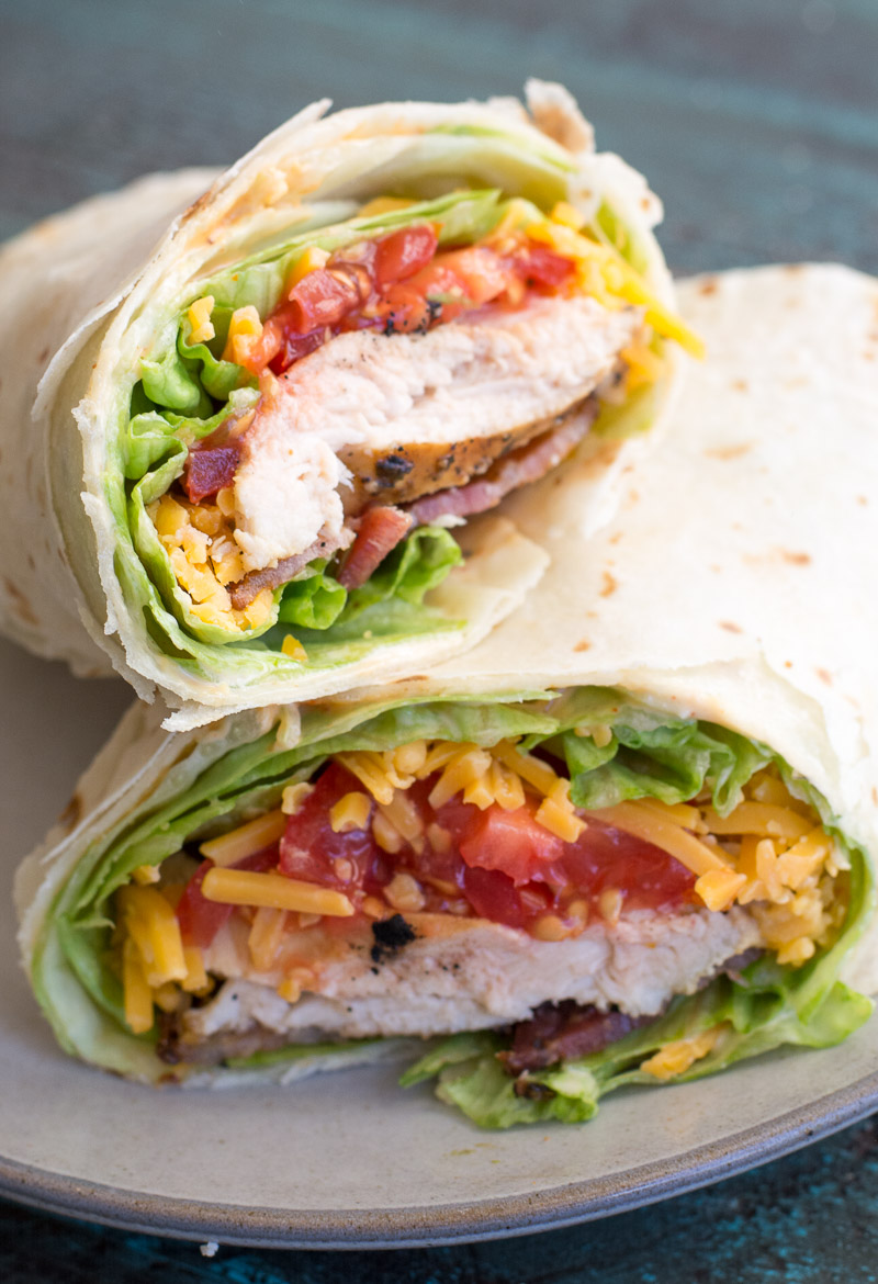 This Spicy Chicken Bacon Ranch Wrap is the perfect quick and easy meal packed with flavor!