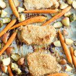 One Pan Crispy Pork Chops and Ranch Roasted Veggies