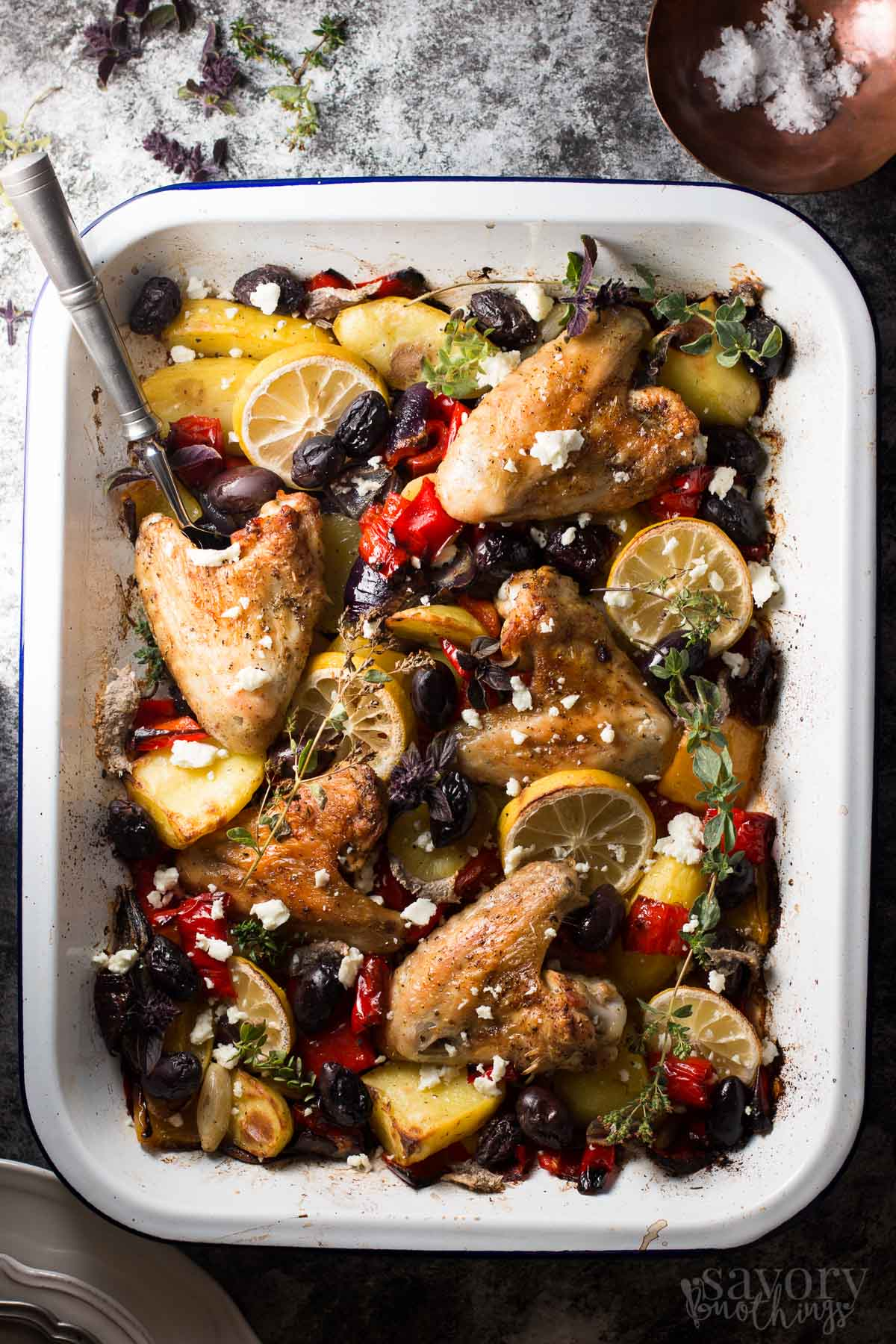 One Sheet Pan Greek Style Easy Baked Chicken