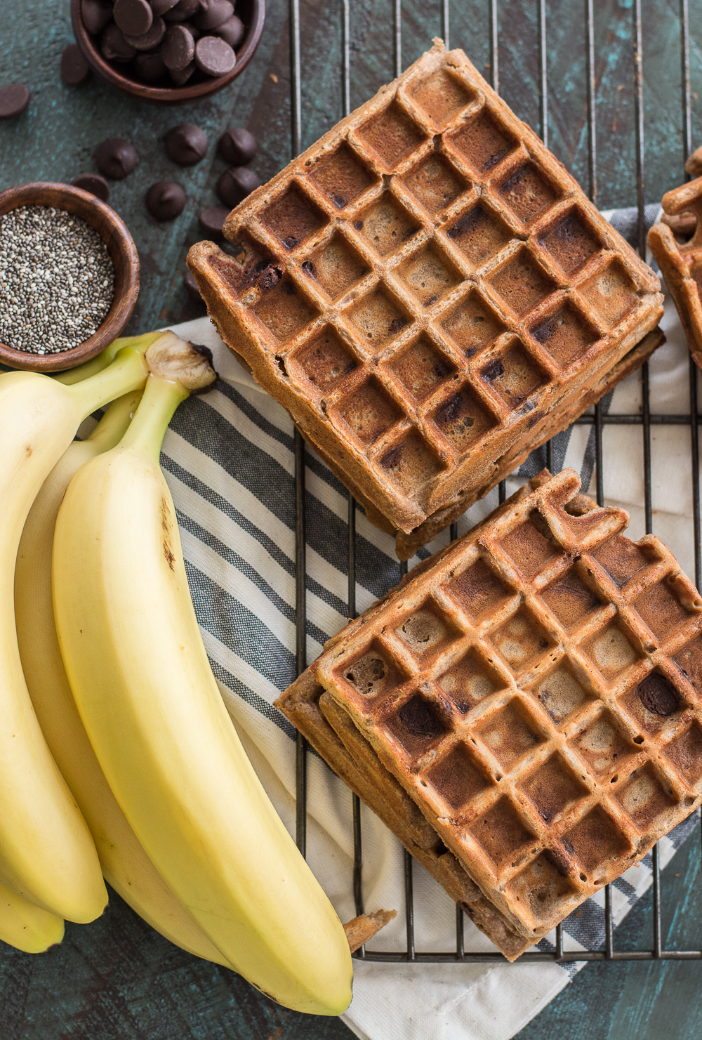 Add these Flourless Peanut Butter Protein Waffles to your morning routine! These gluten free waffles are a great easy meal prep option!