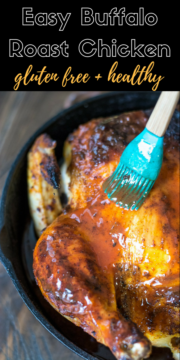 This Easy Buffalo Roast Chicken is packed with flavor and makes an easy and delicious dinner! Try this spicy twist on a classic!