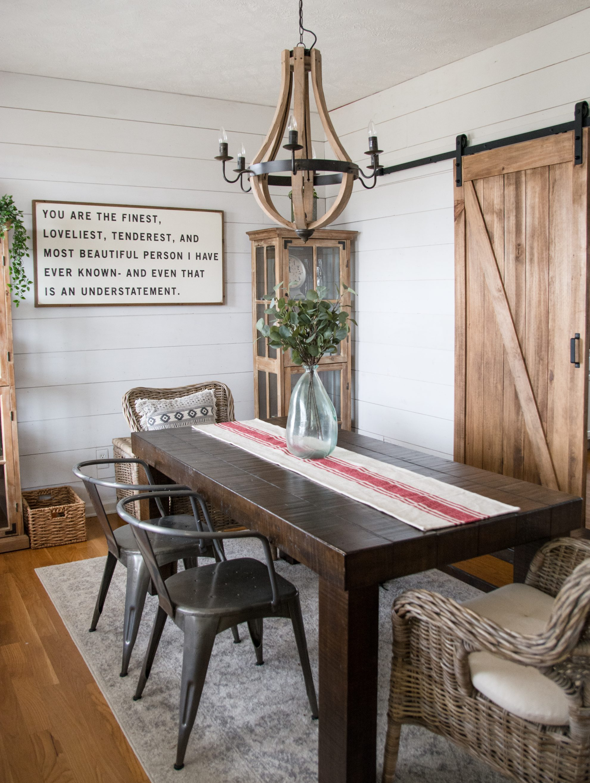 Diy Farmhouse Dining Room Maebells