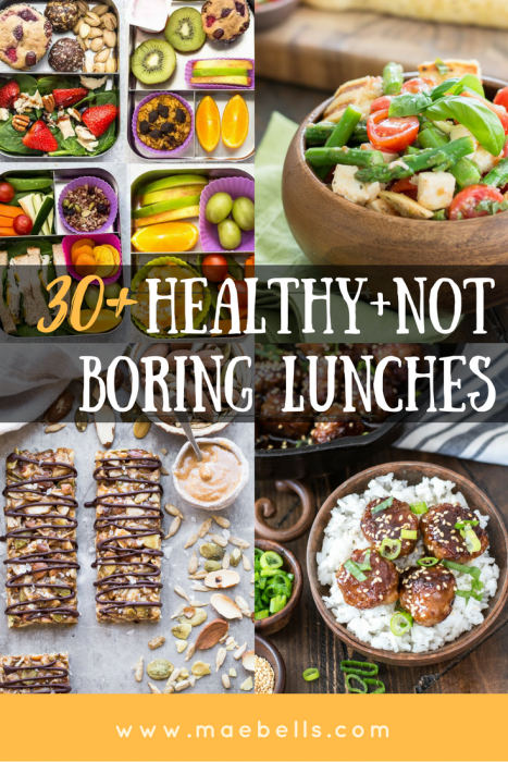 30+ Healthy, Not Boring Lunch Recipes! These easy recipes are perfect for healthy weekday lunches! #mealprep #glutenfree #healthy