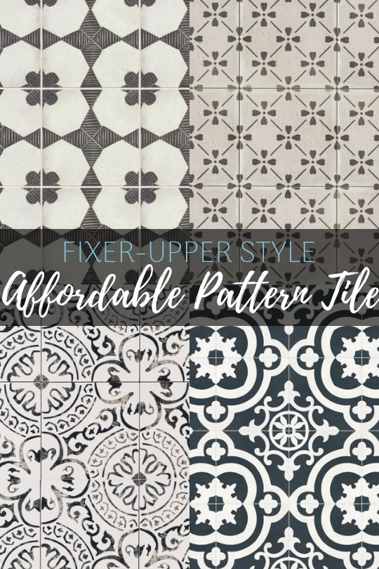 Get the Fixer-Upper look! The best affordable pattern tile to get the perfect farmhouse style on a budget!