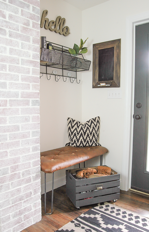 12 beautiful and functional entryways to inspire you to tackle your own! #diy #fixerupper