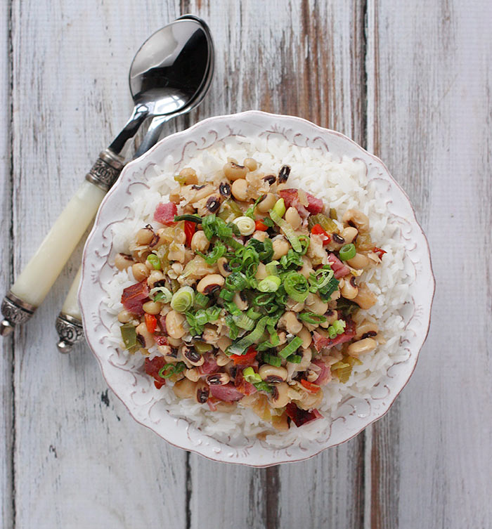 the famous Southern dish with black eyed peas, ham, and the Cajun holy trinity of onions, celery, and peppers brings luck in the New Year, and makes a downright tasty dinner, too.