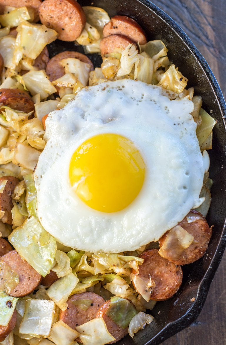 Keto Sausage and Cabbage Breakfast Hash