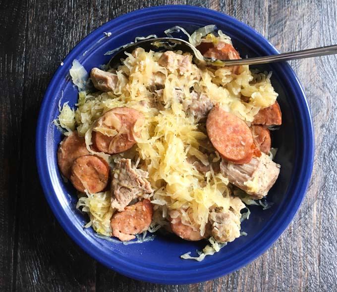 New Year's Pork & Sauerkraut in the Instant Pot