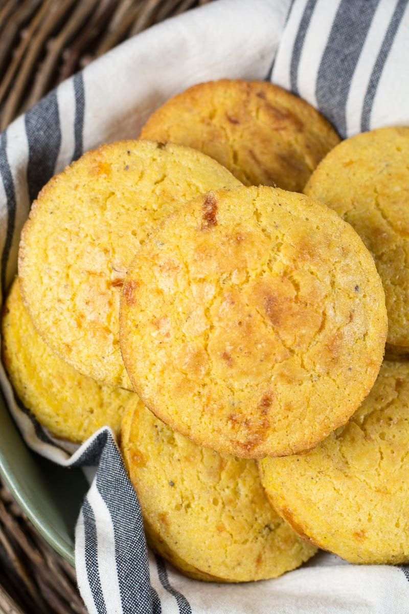 Home / Food / The Best Cheesy Cornbread The Best Cheesy Cornbread FOOD, SIDE DISHES  JUMP TO RECIPE This is the Best Cheesy Cornbread loaded with savory butter and sharp cheddar cheese! This naturally gluten free cornbread is perfect with your favorite soup!