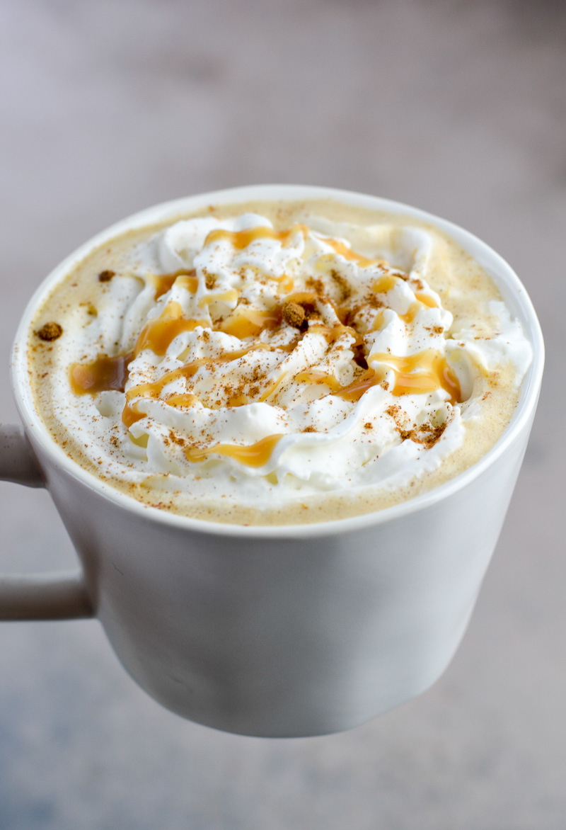 Forget the coffee shop, this Keto Pumpkin Spice Latte is gluten-free, refined sugar-free, and contains less than 3 net carbs! Drizzle with a little keto caramel sauce for a decadent low carb latte!