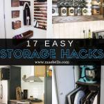 17 Easy Storage Hacks You Need