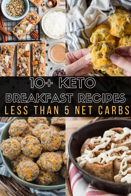 Easy Keto Breakfast Recipes under 5 net carbs! These easy keto breakfast recipes are sure to fill you up and give you fuel for the day without loads of carbs!
