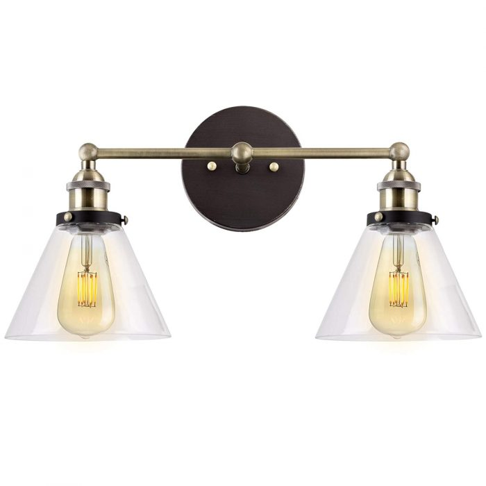 Get the Fixer Upper look with our favorite affordable Farmhouse Style Bathroom Lighting! #fixerupper #farmhouse
