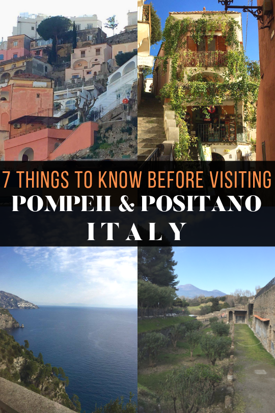 Everything you Need to Know Before Visiting Pompeii and Positano. These tips will make your Italian excursion something you never forget!  #travel #italy #italianvacation