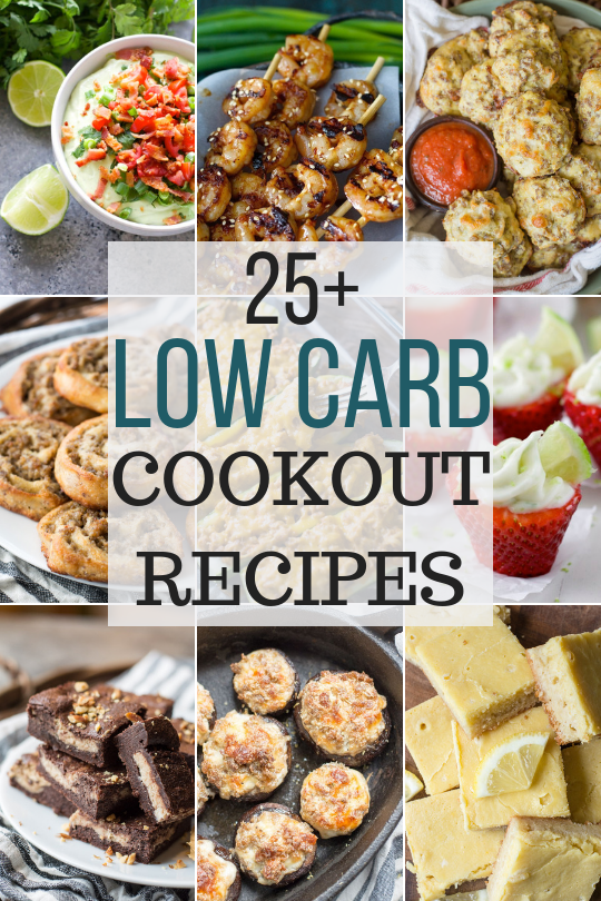 These 25 Low Carb Summertime Cookout Recipes are perfect for all your celebrations! Our best recipes for grilling and cookouts, including Memorial Day, Father's Day, or the Fourth of July! We have sweets, drinks, yummy grilled skewers and side dishes! #keto