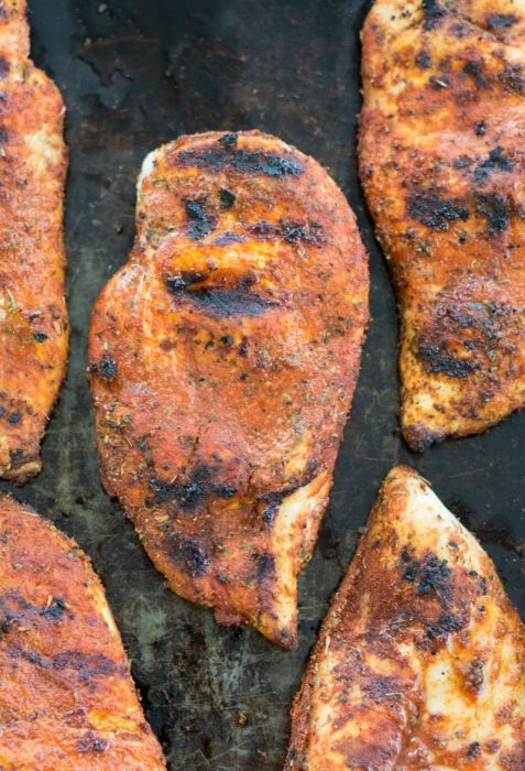 Learn how to make Blackened Chicken that's perfect for salads, wraps, pasta and more. Pair with a low-carb side for the perfect keto meal!