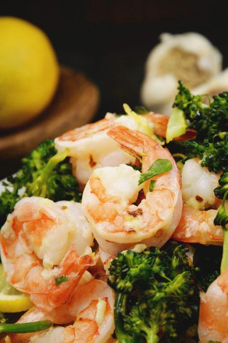 Lemon Garlic Shrimp Sheet Pan Dinner (low carb, keto, gluten free)