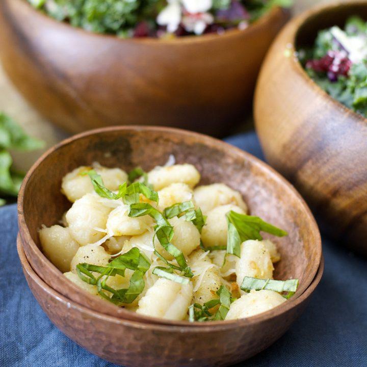 Crispy Garlic Gnocchi