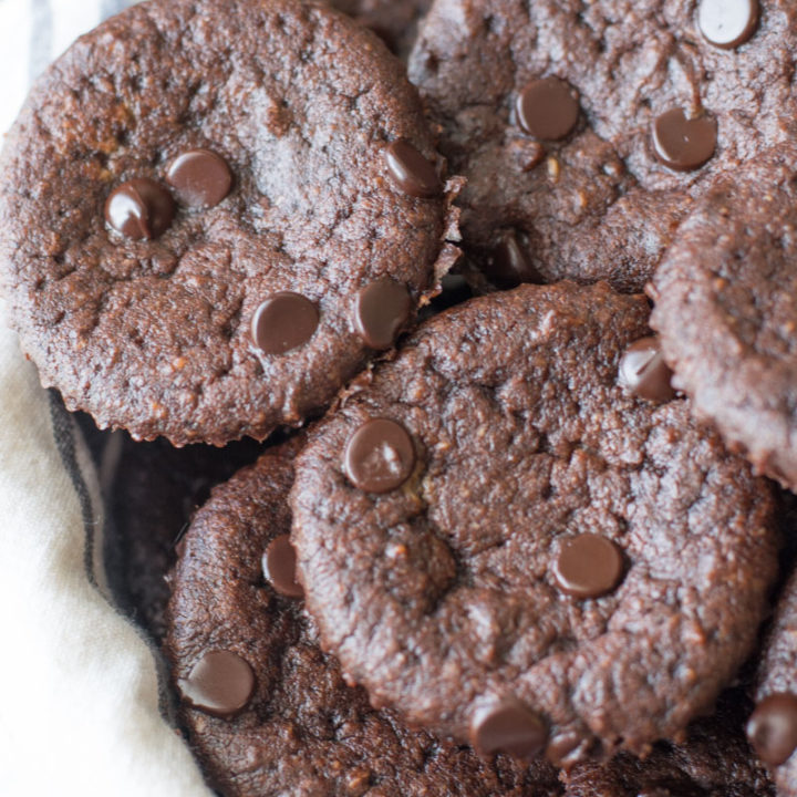 These rich Keto Chocolate Chip Muffins are loaded with dark chocolate chips and under 4 net carbs each! #keto