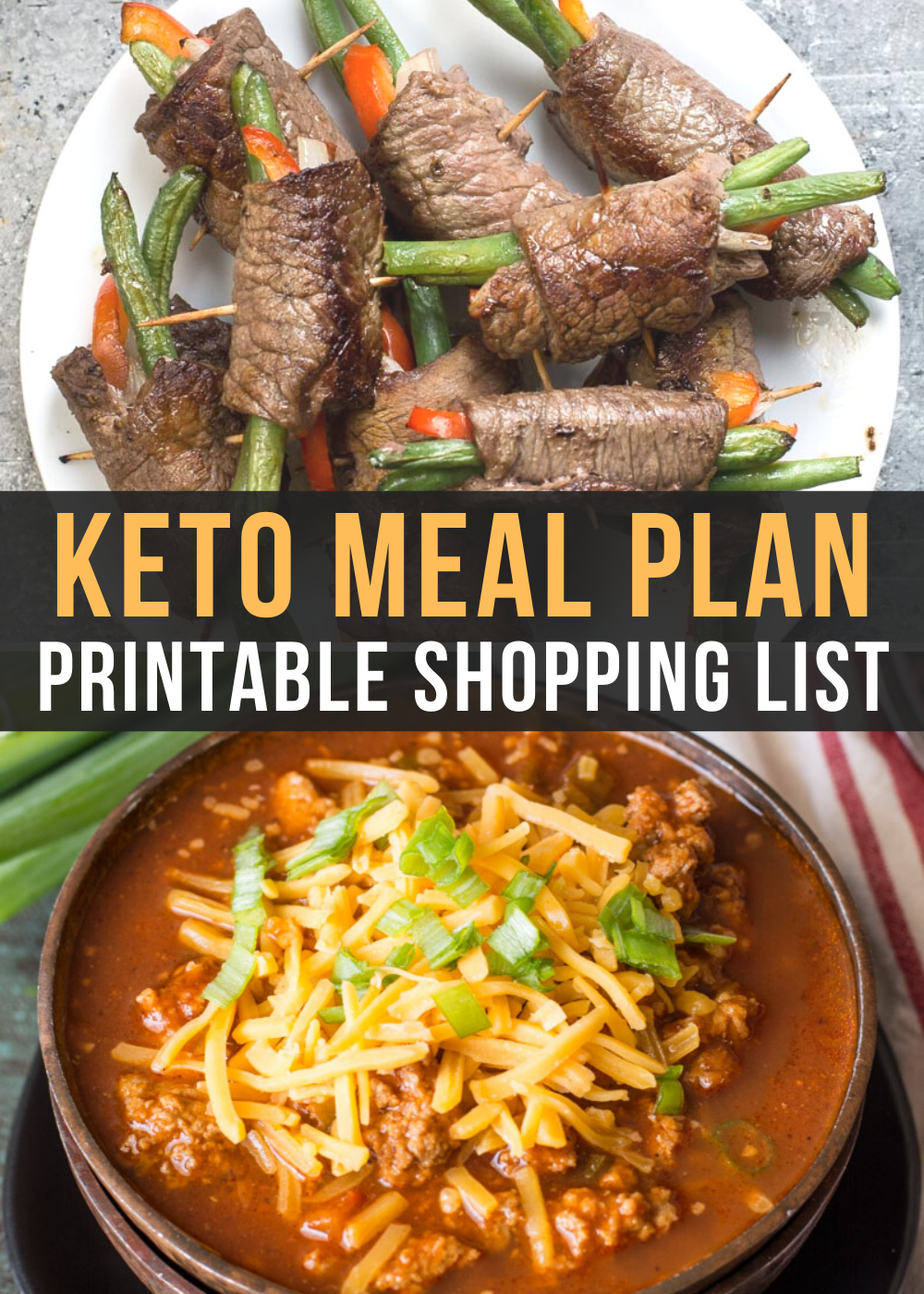 Curious about keto but not sure where to start? I can help! This Easy Keto Meal Plan includes 5 EASY low carb dinners plus a keto breakfast recipe complete with net carb counts and a printable shopping list.