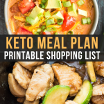 Easy Keto Meal Plan with Shopping List (Week 4)