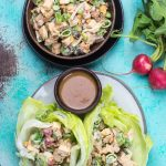 Easy Chopped Thai Chicken Salad (keto + low carb)