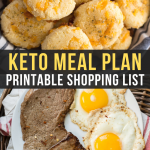 Easy Keto Meal Plan with Shopping List (Week 5)