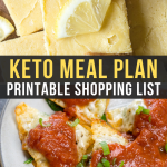 Easy Keto Meal Plan with Shopping List (Week 7)