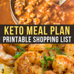 Easy Keto Meal Plan with Shopping List (Week 6)