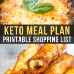 Easy Keto Meal Plan with Printable Shopping List (Week 8)