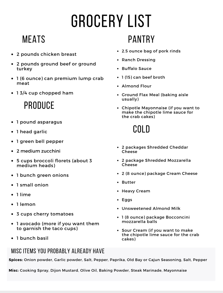 Curious about keto but not sure where to start? I can help! This Easy Keto Meal Plan includes 5 EASY low carb dinners plus a keto dessert to satisfy your sweet tooth. This guide is complete with net carb counts and a printable shopping list.