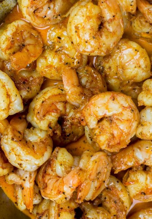 This ultra low-carb one pan Keto Cajun Shrimp has about one net carb per serving! You only need one pan and 20 minutes to create an easy low-carb dinner.