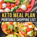 Easy Keto Meal Plan with Printable Shopping List (Week 9)