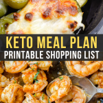 Easy Keto Meal Plan with Printable Shopping List (Week 10)