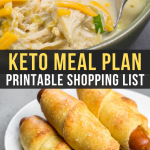 Easy Keto Meal Plan with Printable Shopping List (Week 11)