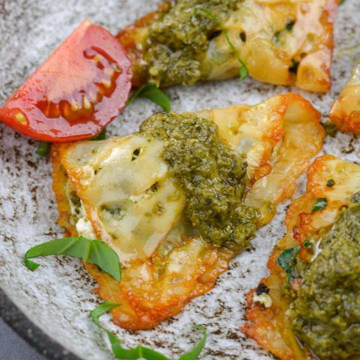 These incredibly delicious Keto Pesto Chicken Ravioli contain just five basic ingredients and take only a few minutes to make! This low carb ravioli will be a new keto staple!