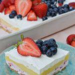 No Bake Strawberry Cheesecake Lush