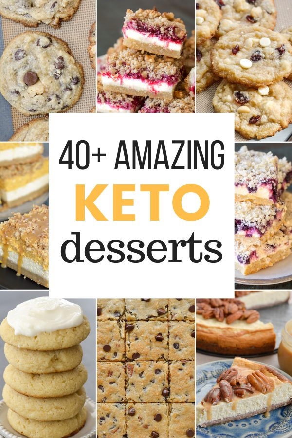 Satisfy your sweet tooth with 40+ of the BEST Keto Desserts!