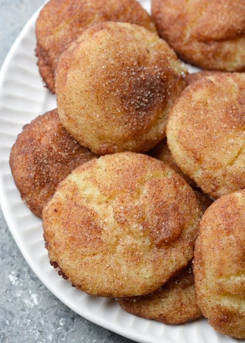 These soft and chewy Keto Snickerdoodles are loaded with vanilla and cinnamon! Each grain free cookie has just 1.5 net carbs each!