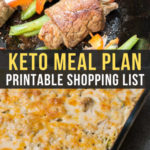 Easy Keto Meal Plan with Printable Shopping List (Week 13)