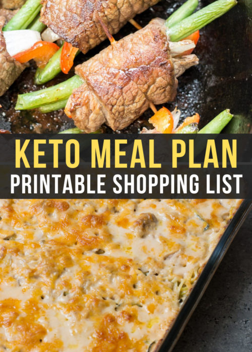 This week's Easy Keto Meal Plan includes 5 easy low-carb dinner as well as a keto-friendly dessert. I've included net carb counts, serving amounts, and a printable shopping list!