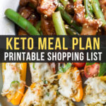 Easy Keto Meal Plan with Printable Shopping List (Week 14)