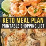 Easy Keto Meal Plan with Printable Shopping List (Week 16)