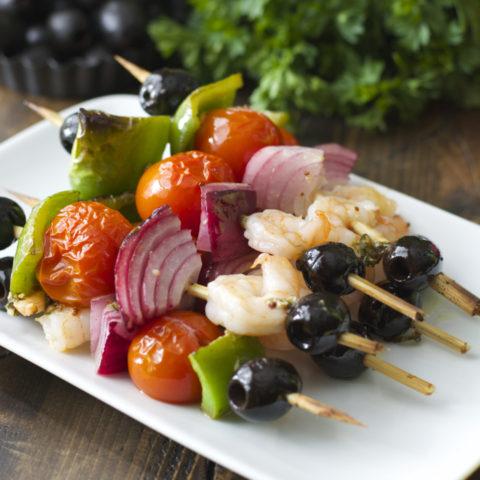 Mediterranean Shrimp Skewers