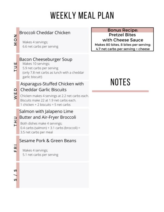 Week 18 Easy Keto Meal Plan