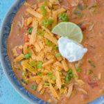 Keto Cheesy Chicken Enchilada Soup